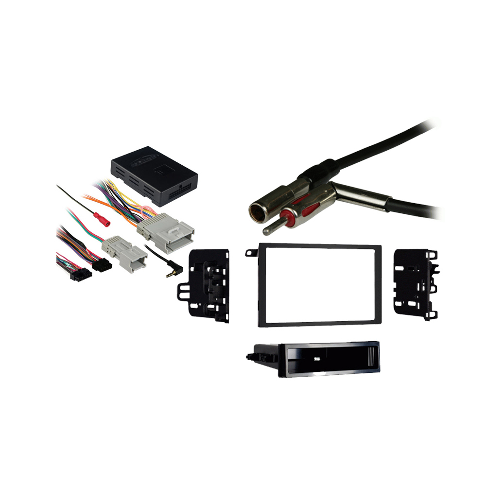 GMC Sierra Classic 2007 Double DIN Stereo Harness Radio Install Dash Kit Package