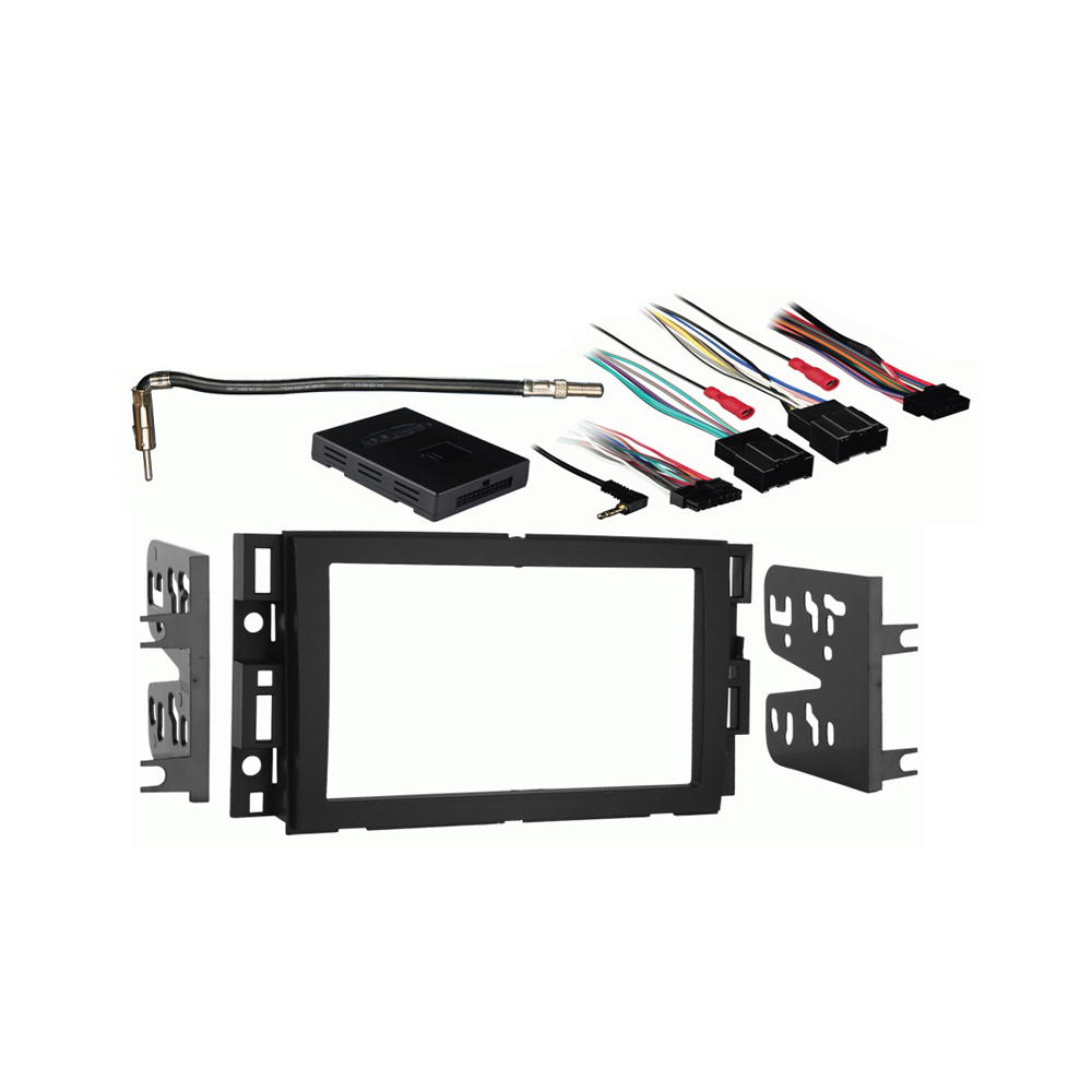 GMC Sierra without OE NAV 2012 2013 Double DIN Stereo Harness Radio Install Dash Kit