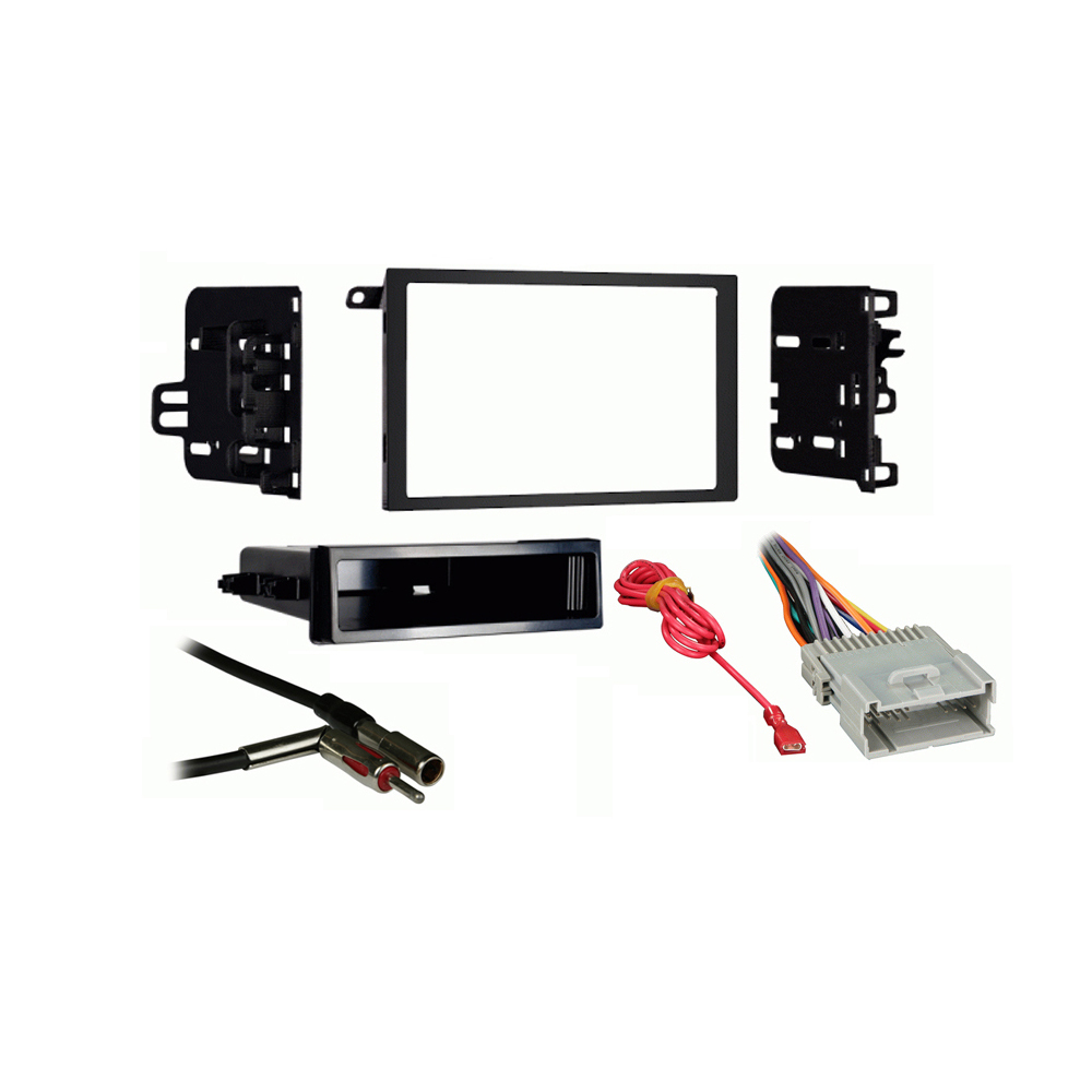 Gmc Sonoma 03-04 Double Din Aftermarket Stereo Harness Radio Install Dash Kit