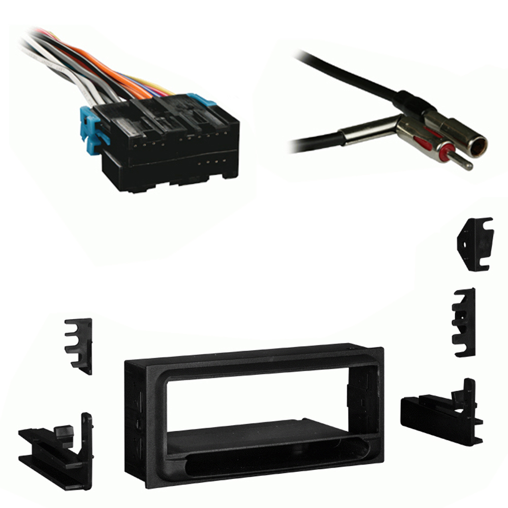 GMC Suburban 1995 1996 1997 1998 1999 Single DIN Aftermarket Stereo Harness Radio Install Dash Kit