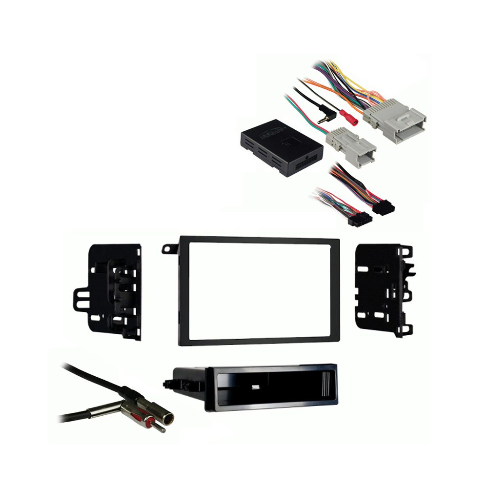 GMC Yukon Yukon XL 2003 2004 2005 2006 Double DIN Stereo Harness Radio Install Dash Kit