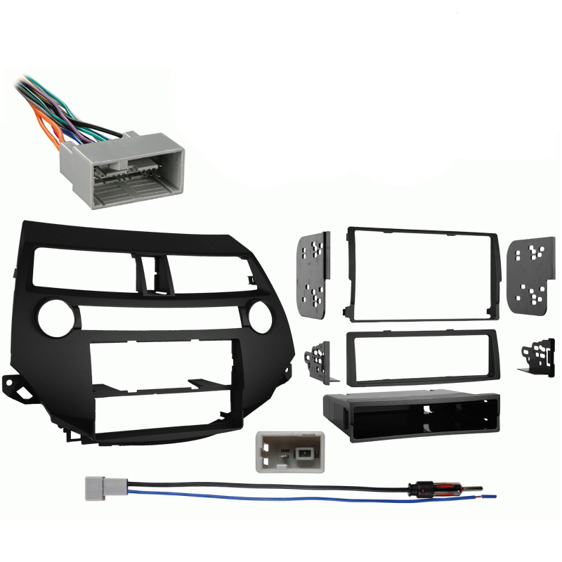 Honda Accord Crosstour 10-14 w/ Manual Climate Stereo Harness Radio Dash Kit