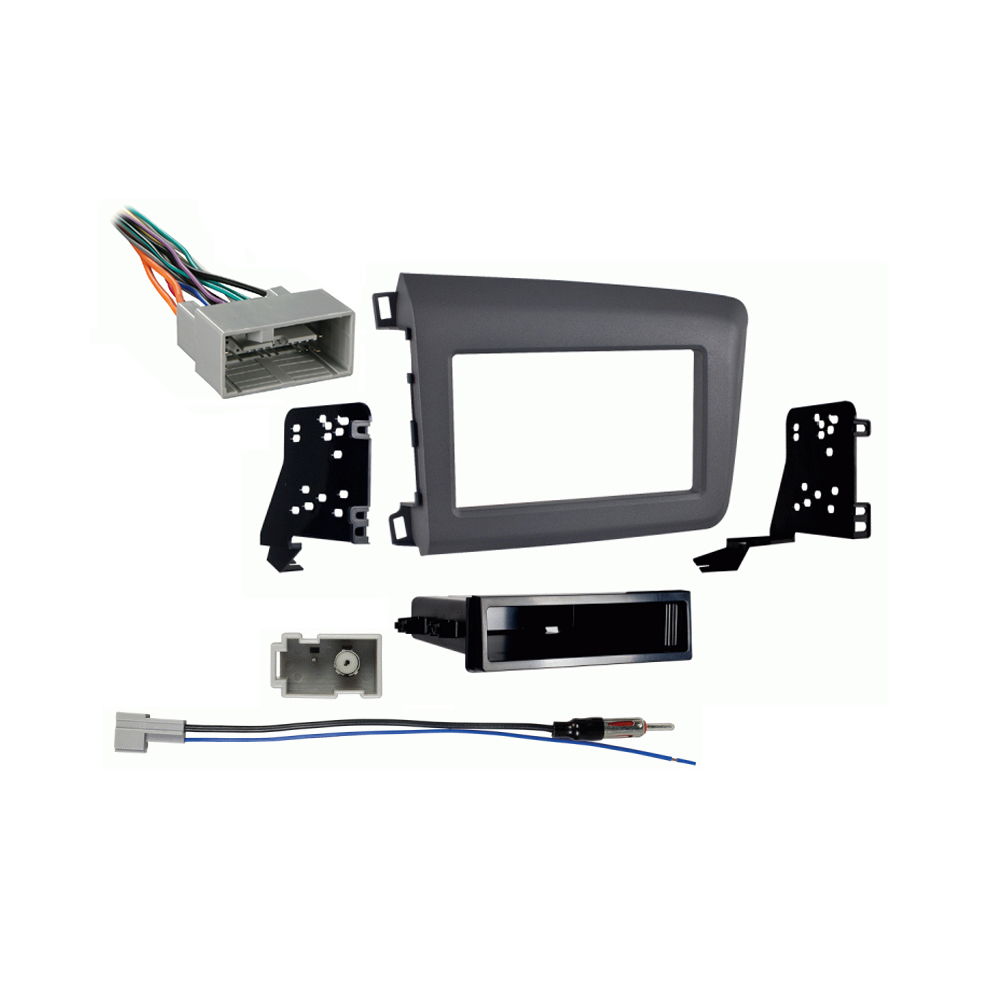 Honda Civic 2012 Single DIN Aftermarket Stereo Harness Radio Install Dash Kit