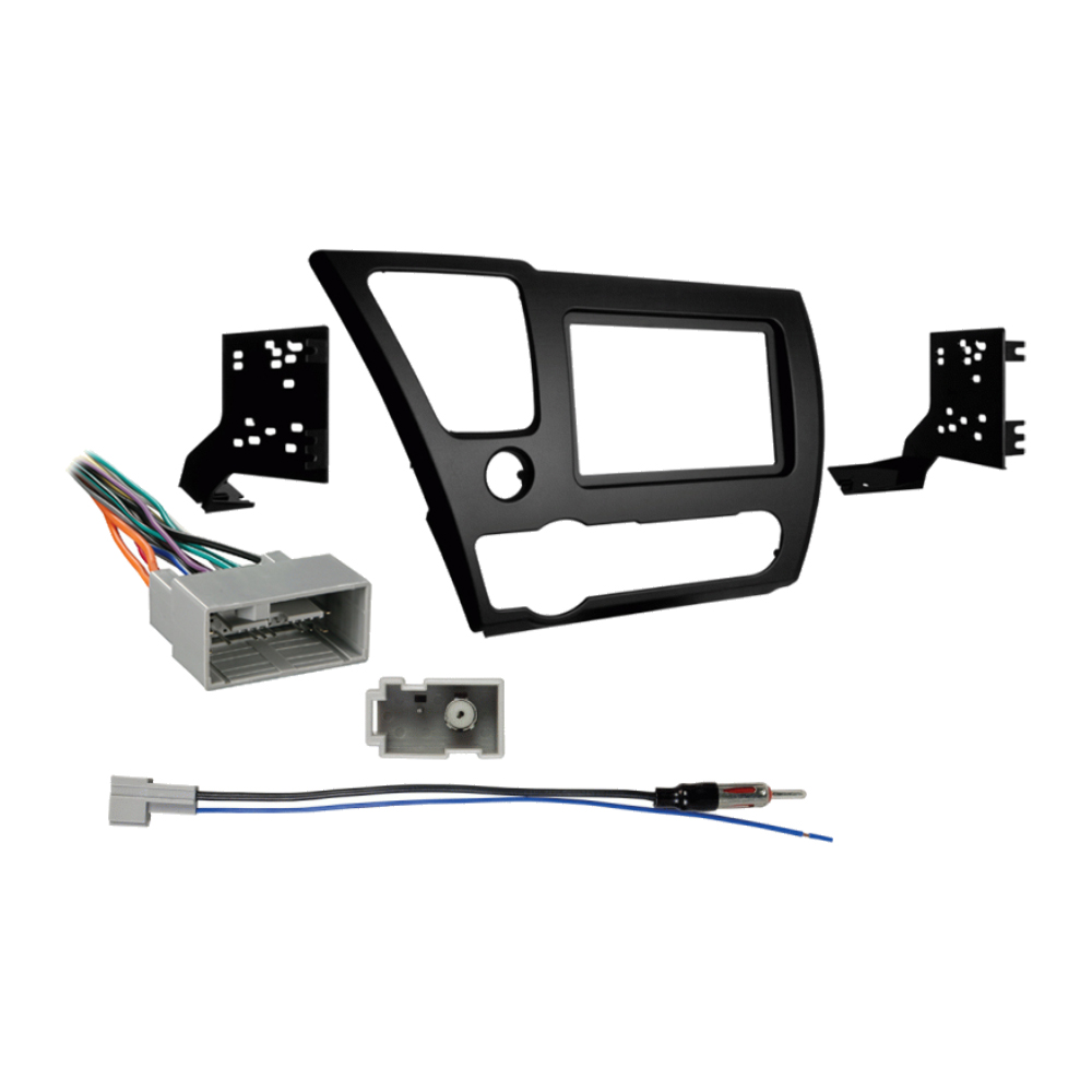 Honda Civic 2013 2014 Double DIN Stereo Harness Radio Install Dash Kit Package