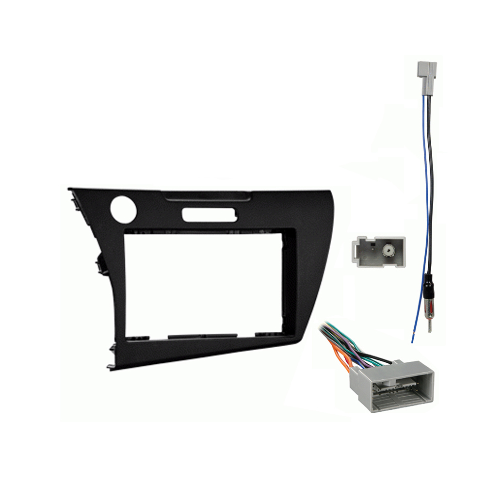 Honda CRZ 2011 2012 2013 2014 2015 2016 Double DIN Aftermarket Stereo Harness Radio Install Dash Kit