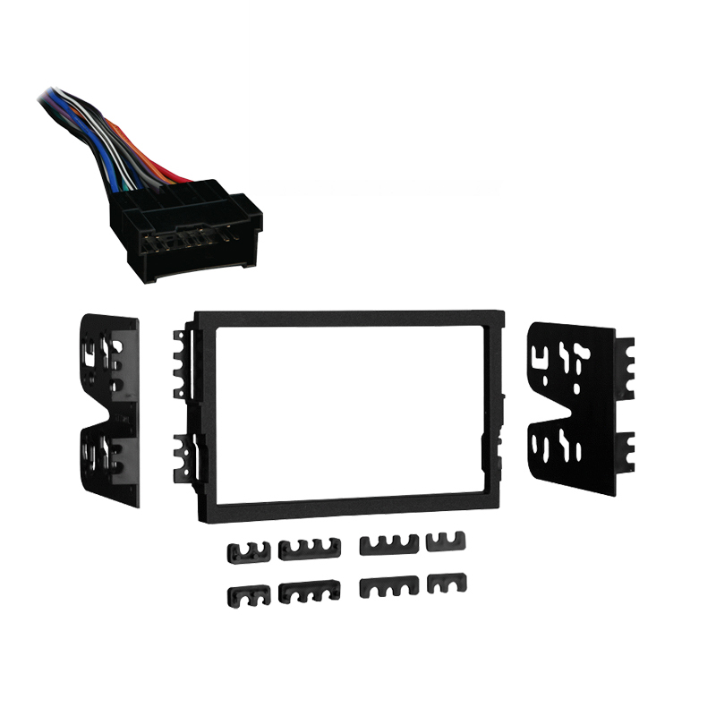 Hyundai Santa Fe 01-06 Double DIN Stereo Harness Radio Install Dash Kit Package