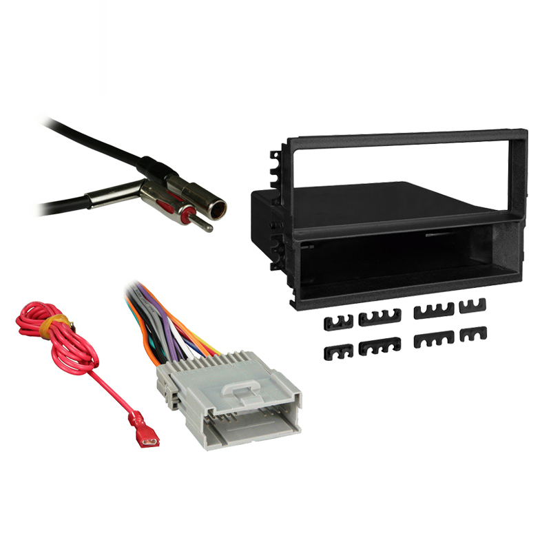 Hyundai Santa Fe 03-06 w/ Monsoon Single DIN Stereo Harness Radio Dash Kit