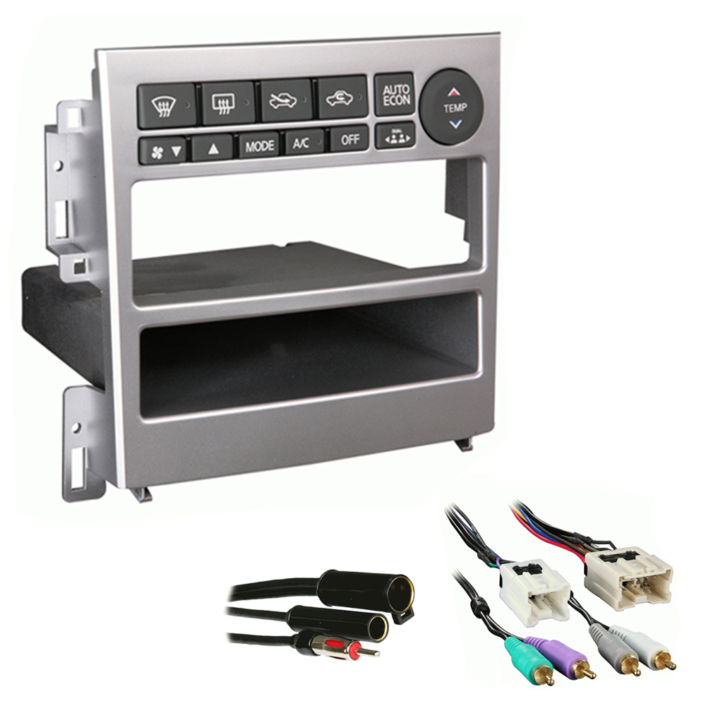 Infiniti G35 Coupe 2005 2006 2007  Single DIN Stereo Harness Radio Install Dash Kit Package