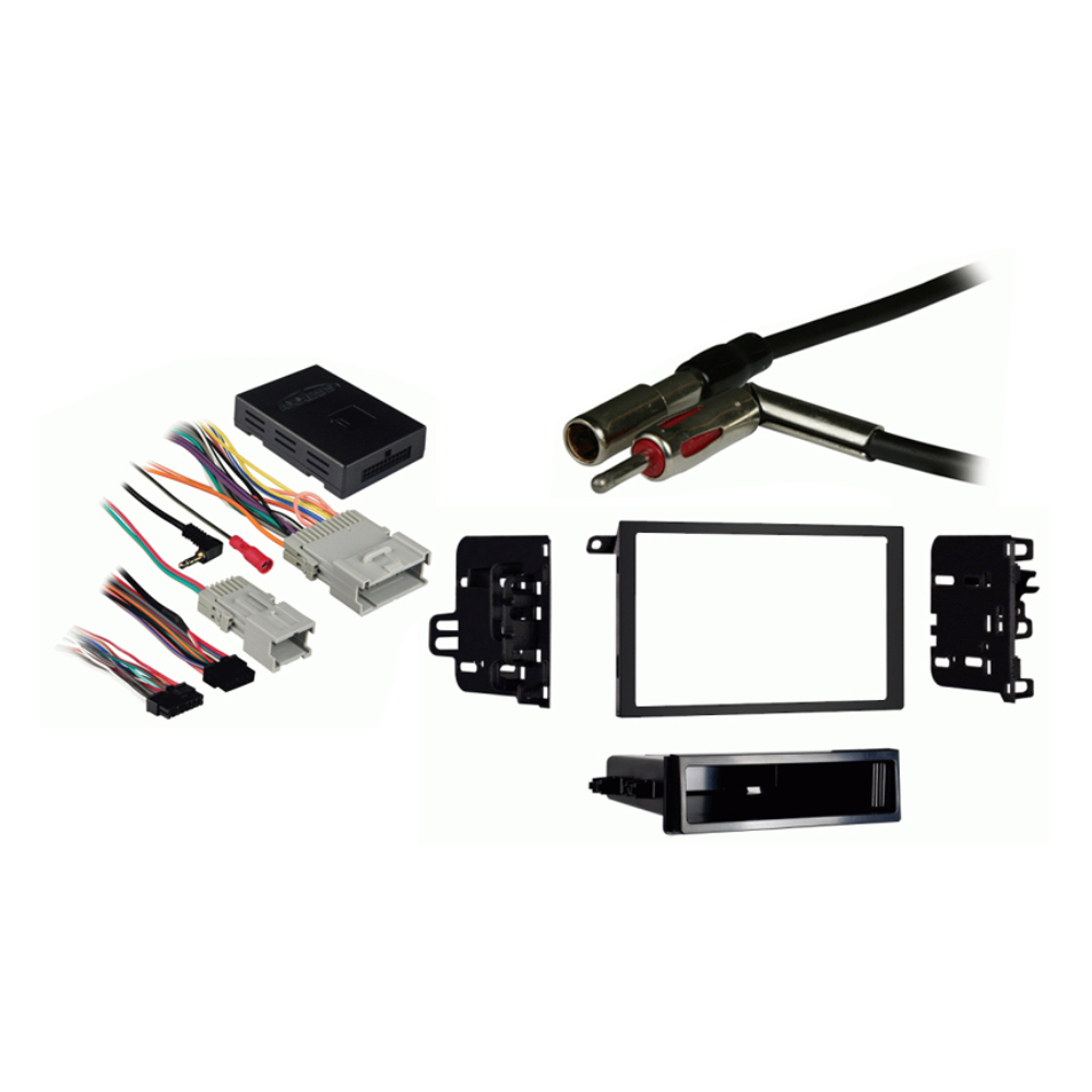 Buick Rendevous 2002 2003 2004 2005 2006 2007 Double DIN Stereo Harness Radio Install Dash Kit Package