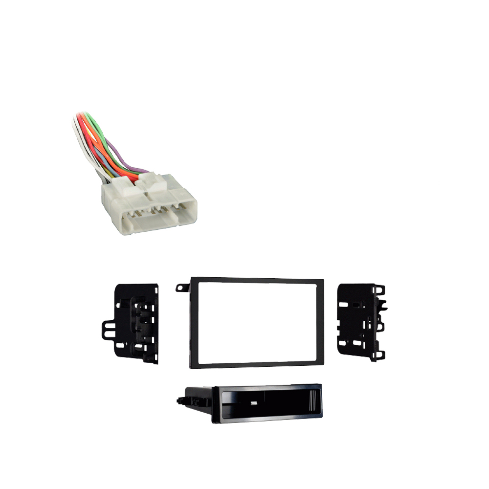 Isuzu Rodeo Sport 01-03 Double DIN Stereo Harness Radio Install Dash Kit Package