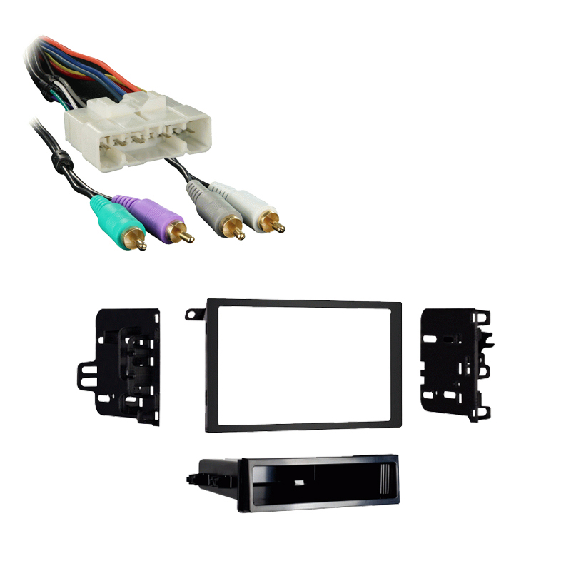 Isuzu Rodeo 2002 2003 w  External OE Amp Double DIN Stereo Harness Radio Dash Kit