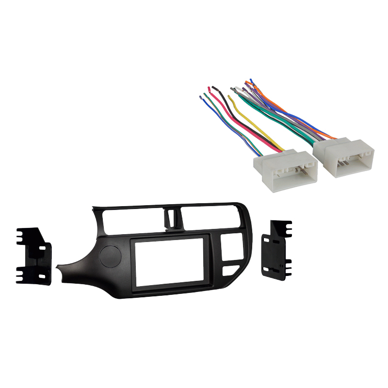 Kia Rio/Rio 5 2012-2015 Double DIN Stereo Harness Radio Install Dash Kit Package