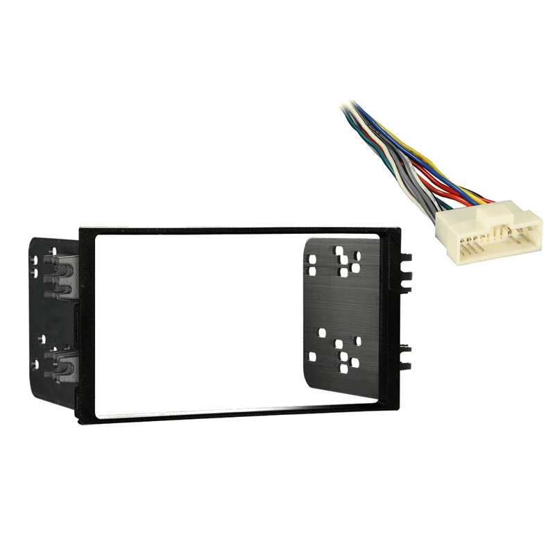 pioneer car stereo wiring harness fits kia rio 2001 double din aftermarket car harness radio ... pioneer car stereo wiring adapters kia rio