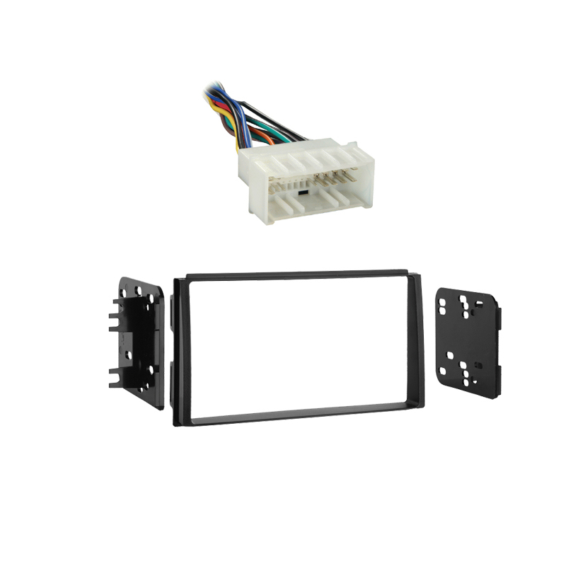 Kia Spectra 2007 2008 2009Double DIN Stereo Harness Radio Install Dash Kit Package