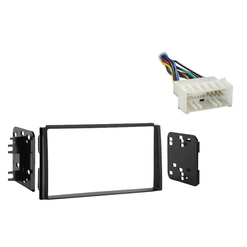 Kia Spectra 5 2007 2008 2009Double DIN Stereo Harness Radio Install Dash Kit Package