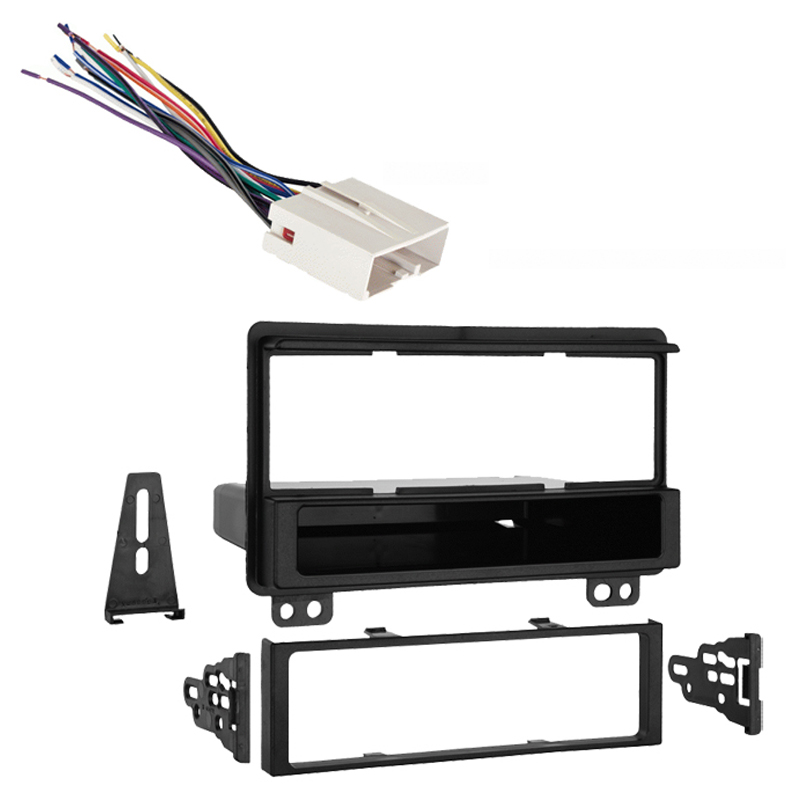 Lincoln Aviator 04-05 Single Din Stereo Harness Radio Install Dash Kit Package