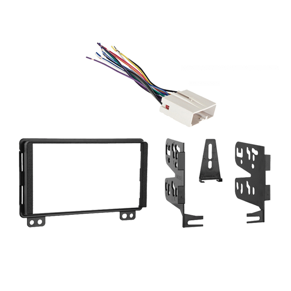 Lincoln Aviator 04-05 Double DIN Stereo Harness Radio Install Dash Kit Package