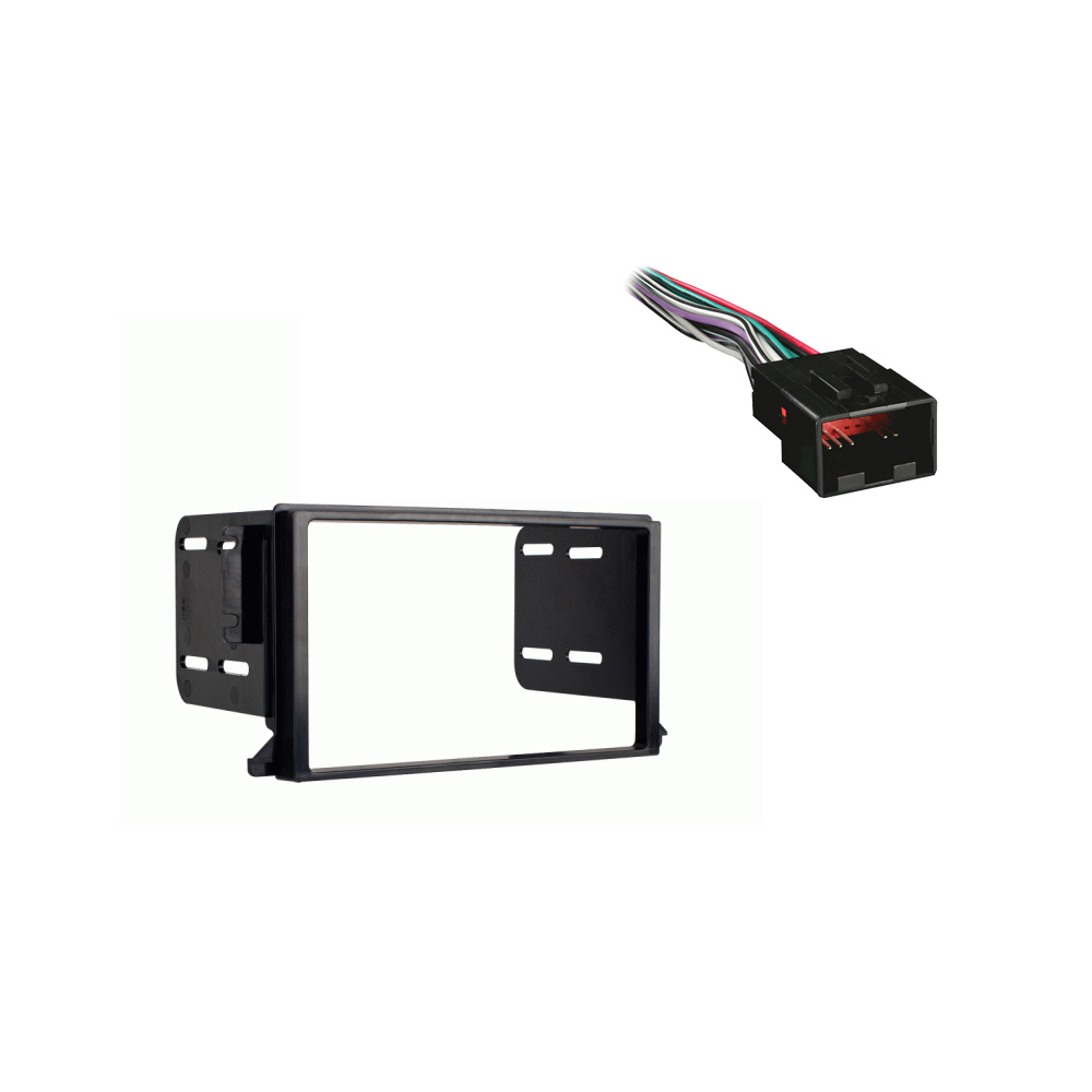 Lincoln Continental 1998-2002 Double DIN Stereo Harness Radio Install Dash Kit