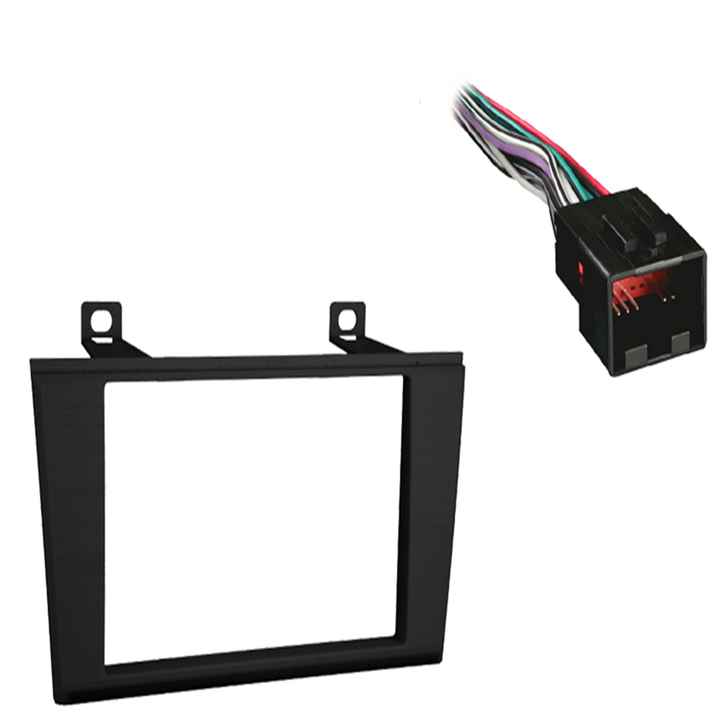 Lincoln LS Series 2004 2005 2006 Double DIN Stereo Harness Radio Dash Kit   Black