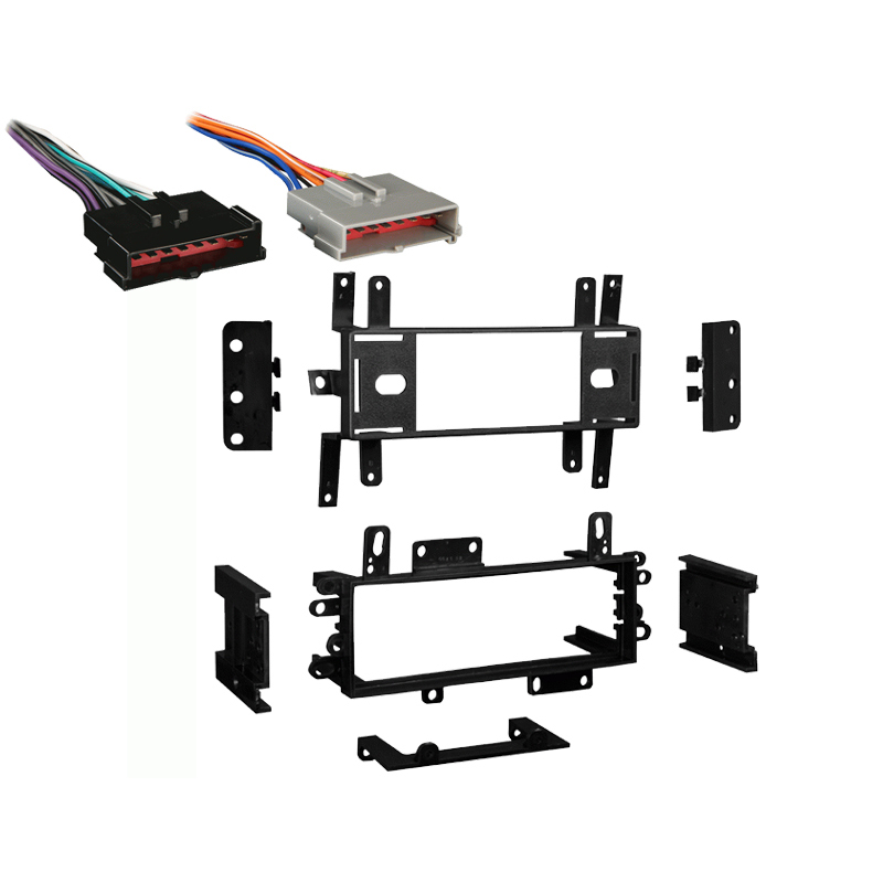 Lincoln Town Car 86-94 Single DIN Stereo Harness Radio Install Dash Kit Package