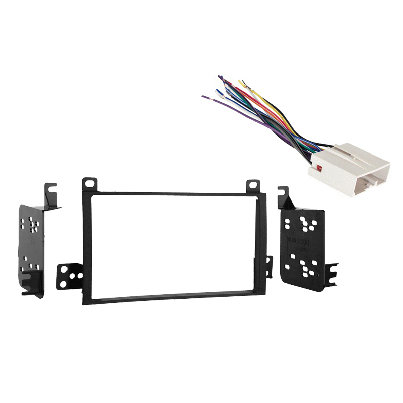 Lincoln Town Car 03-11 Double DIN Stereo Harness Radio Install Dash Kit Package
