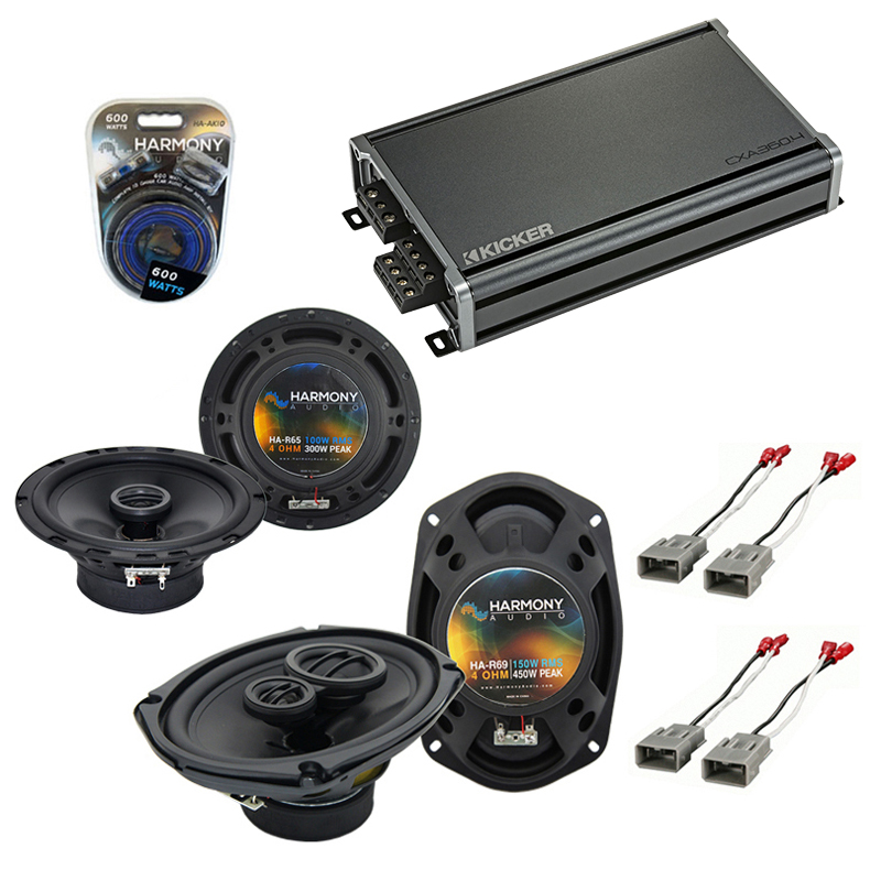 Compatible with Acura CL 1997-2003 Factory Speaker Replacement Harmony R65 R69 & CXA300.4 Amp