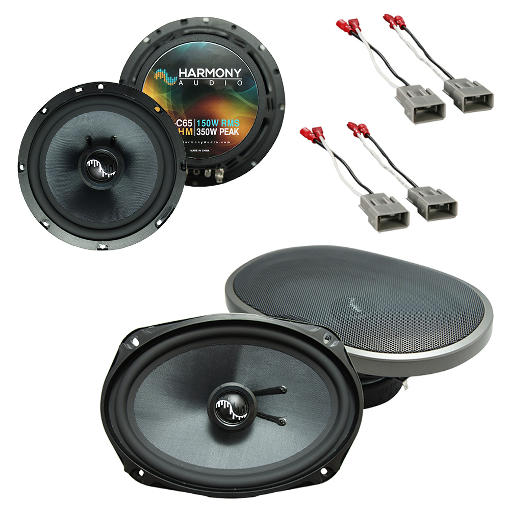 """Harmony Audio Bundle Compatible With Universal Vehicle HA-C65 6.5"""" Replacement 350W Speakers With HA-C69 6x9"""" Replacement 500W Speakers And HA-727800 FacTory Speaker Replacement Harness"""