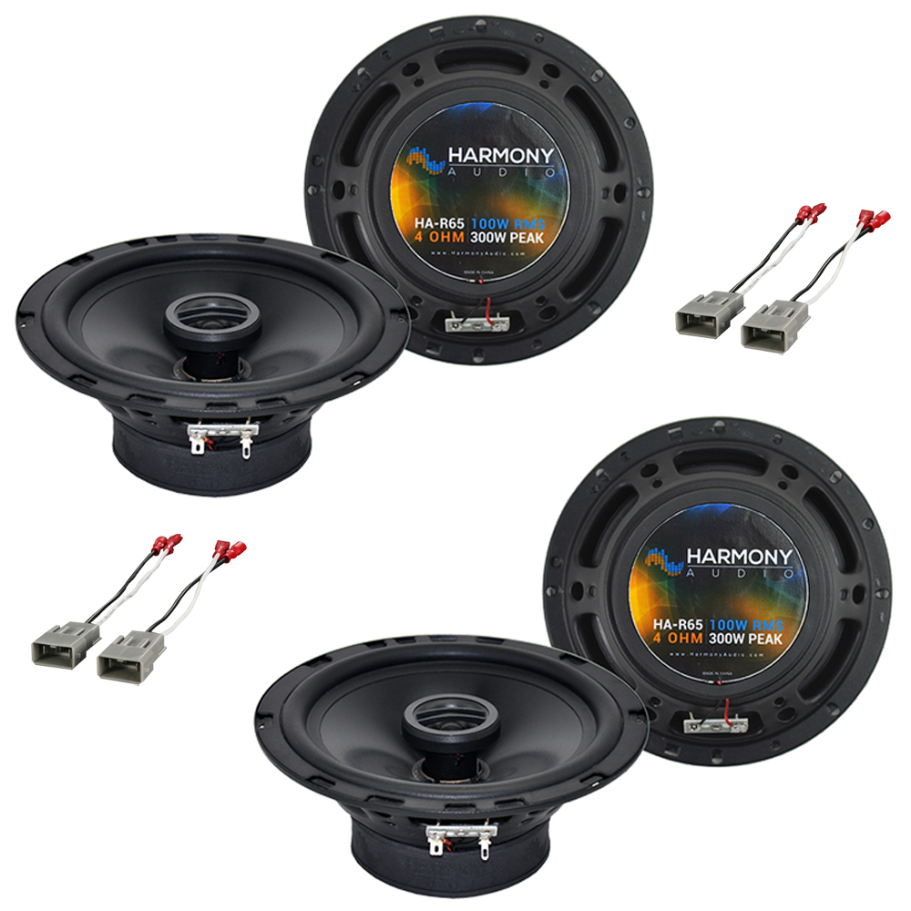 Harmony Audio Bundle Compatible With 1988-1991 Honda CRX (2) HA-R65 New Factory Speaker Replacement Package 300W Speakers & Grills