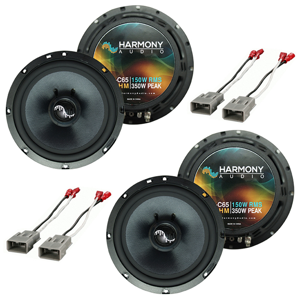 """Harmony Audio Bundle Compatible With 2003-2008 Honda Pilot HA-C65 6.5"""" Replacement 300W Speakers With HA-727800 FacTory Speaker Replacement Harness"""