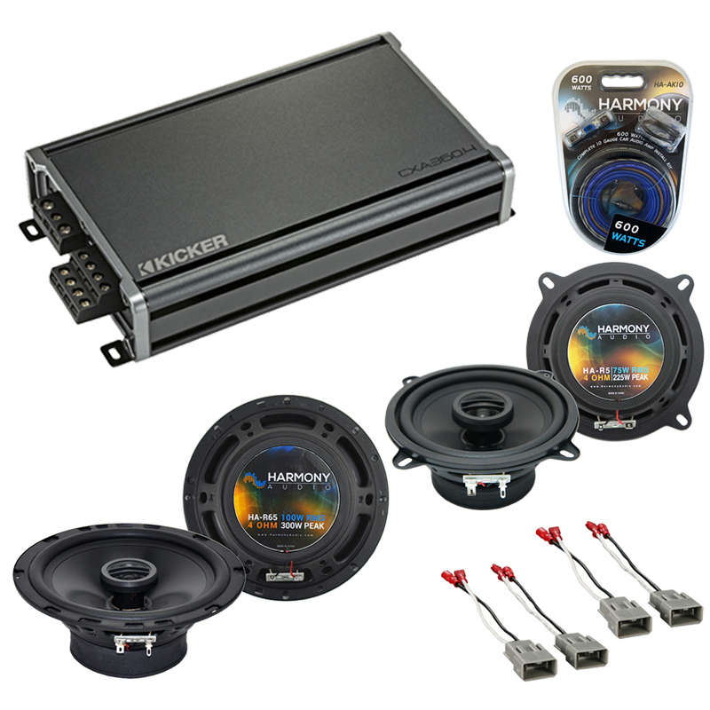 Compatible with Honda Prelude 1986-1987 OEM Speaker Replacement Harmony R5 R65 & CXA360.4 Amp