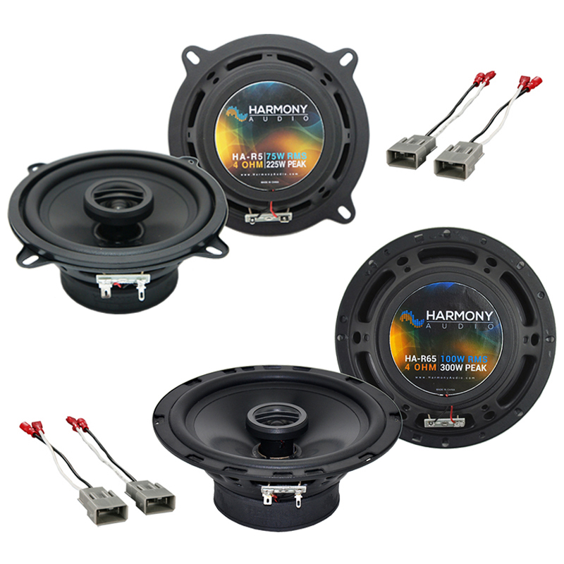 Harmony Audio Bundle Compatible With 1986-1987 Honda Prelude HA-R5 HA-R65 New Factory Speaker Replacement Upgrade Package