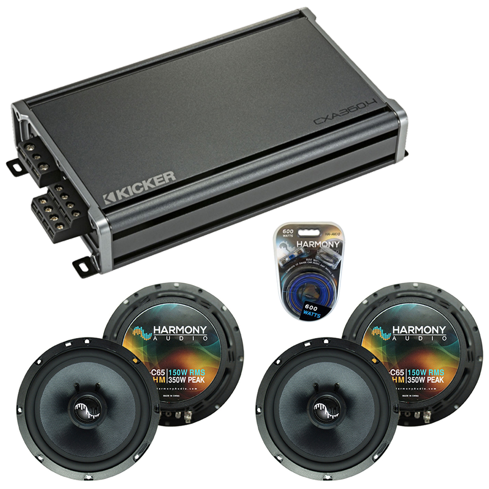 Compatible with BMW 3 Series 2006-2013 Factory Speakers Replacement Harmony (2)C65 & CXA360.4