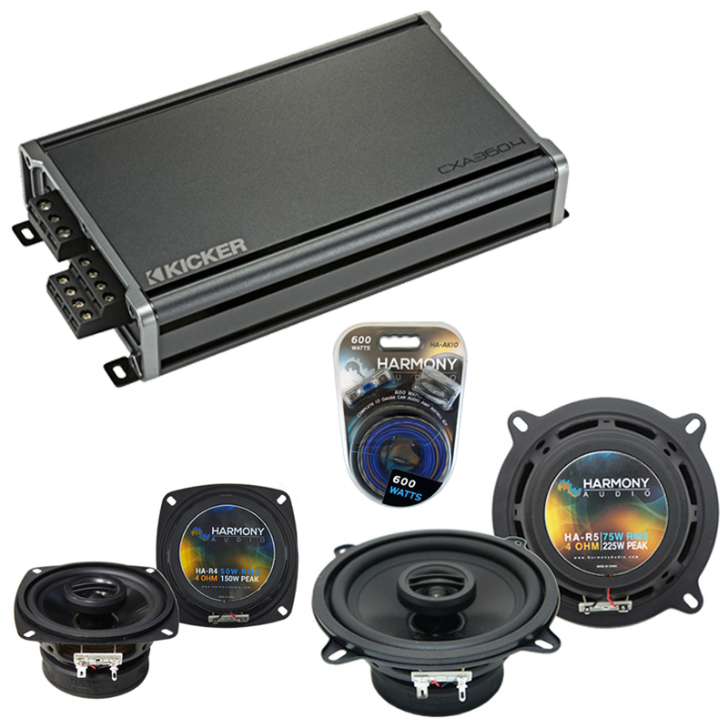Compatible with Hyundai Accent 2002-2011 Speaker Replacement Harmony R4 R5 & CXA360.4 Amp