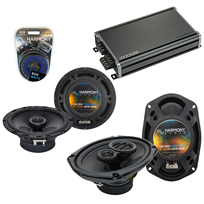 Compatible with Infiniti G20 1999-2002 Speaker Replacement Harmony R65 R69 & CXA360.4 Amp