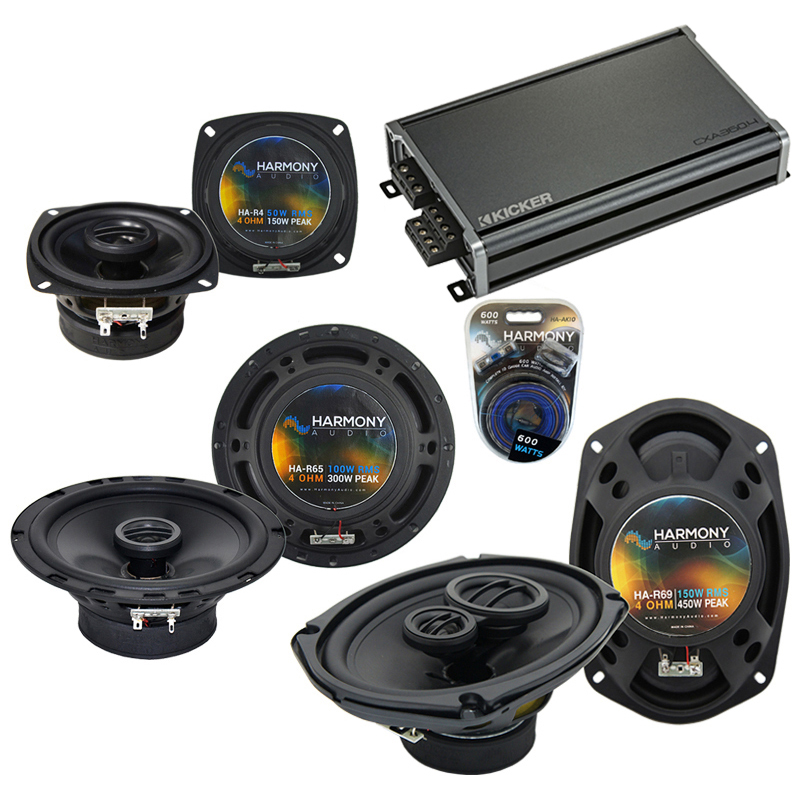 Compatible with Infiniti G35 (coupe) 2003-2007 Speaker Replacement Harmony Speakers & CXA360.4
