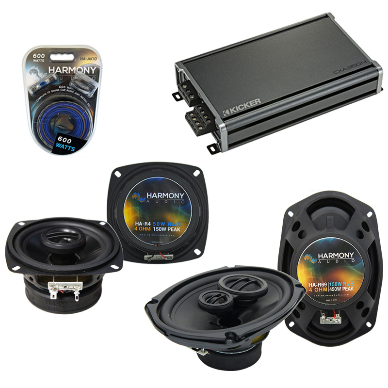 Compatible with Infiniti M30 1990-1992 OEM Speaker Replacement Harmony R4 R69 & CXA3004 Amp