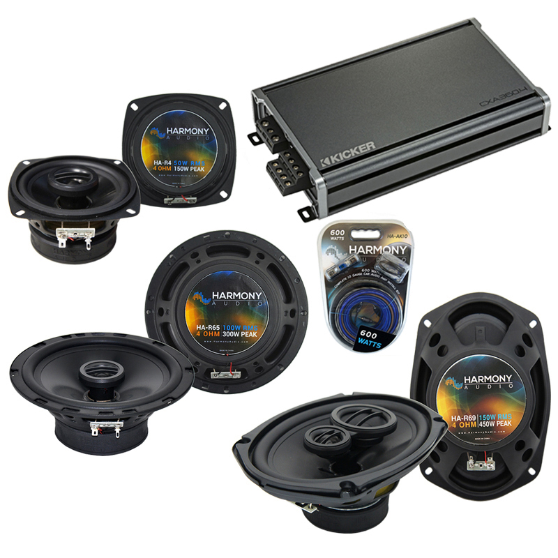 Compatible with Infiniti QX56 04-05 OEM Speaker Replacement Harmony R69 R4 R65 & CXA360.4 Amp