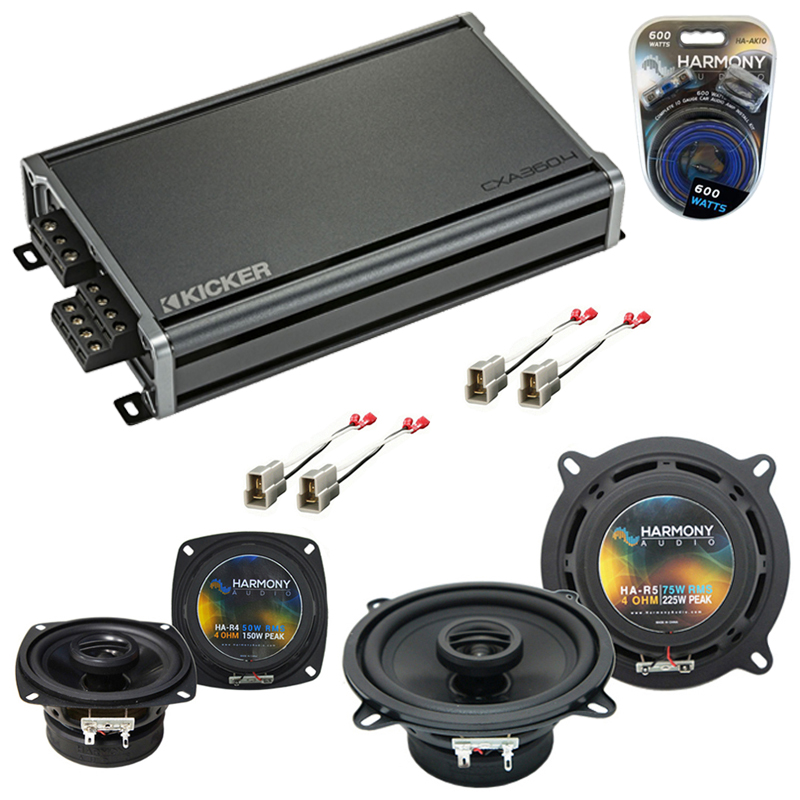 Compatible with Isuzu Rodeo 1992-1995 Factory Speaker Replacement Harmony R4 R5 & CXA360.4 Amp