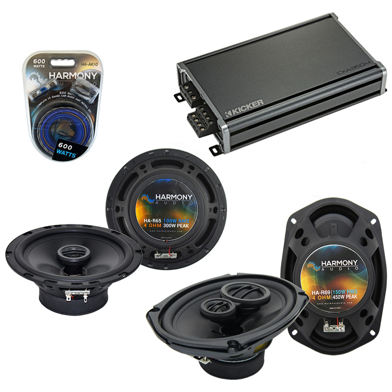 Compatible with Jeep Grand Cherokee 05-13 OEM Speaker Replacement Harmony R69 R65 & CXA300.4 Amp