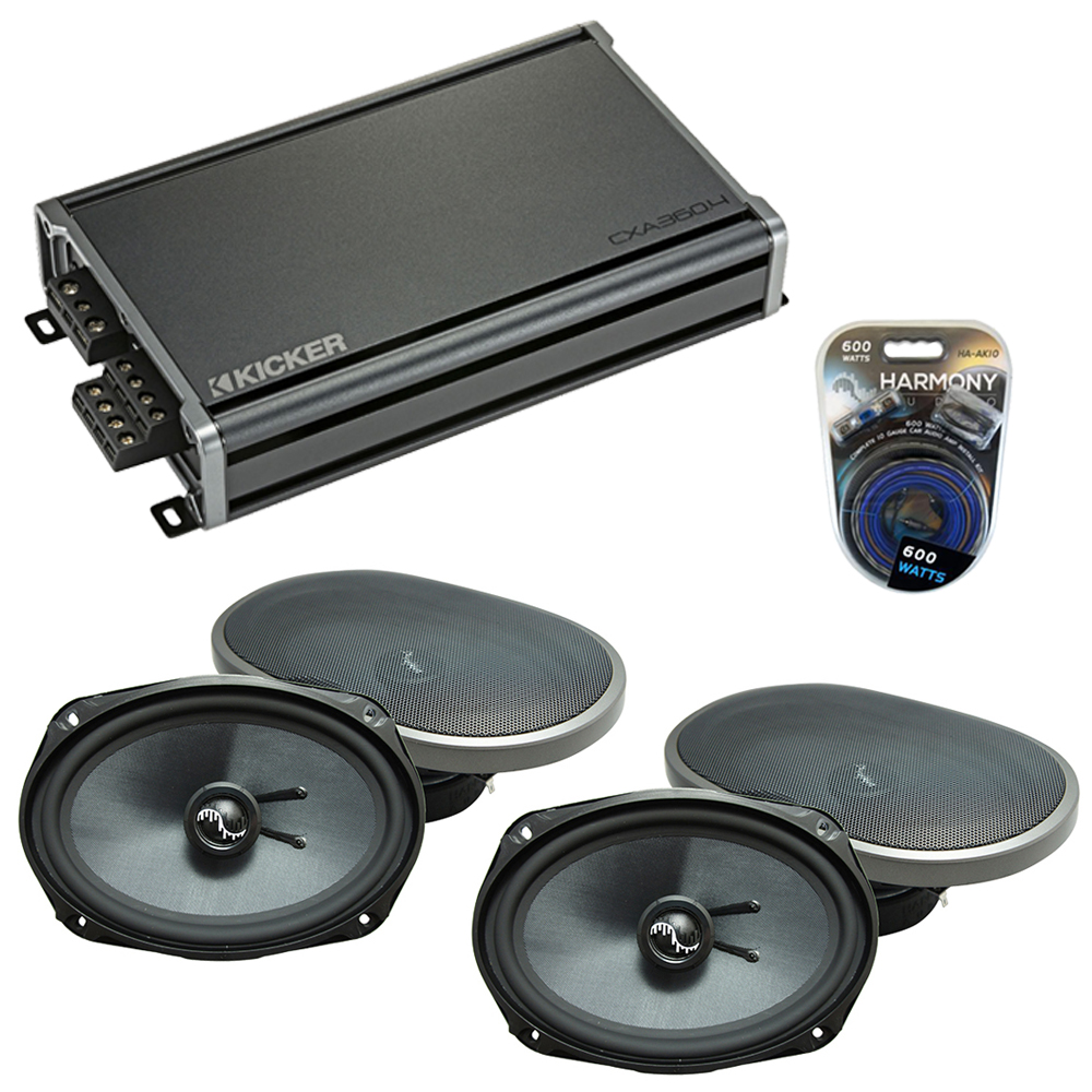 Compatible with Jeep Patriot 2007-2017 OEM Speakers Replacement Harmony (2) C69 & CXA360.4