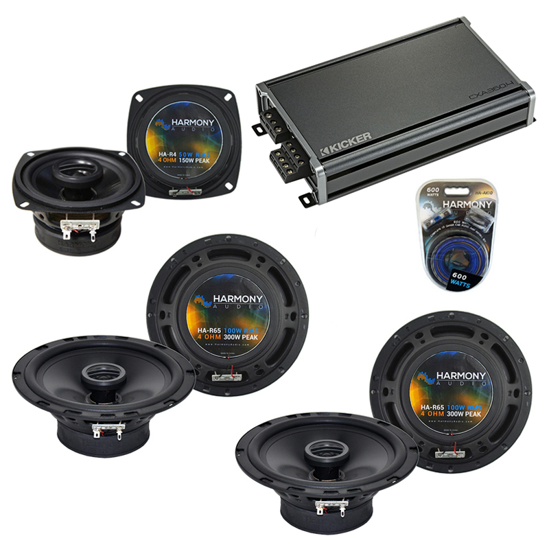 Compatible with Acura MDX 2007-2016 Factory Speaker Replacement Harmony (2) R65 R4 & CXA360.4 Amp