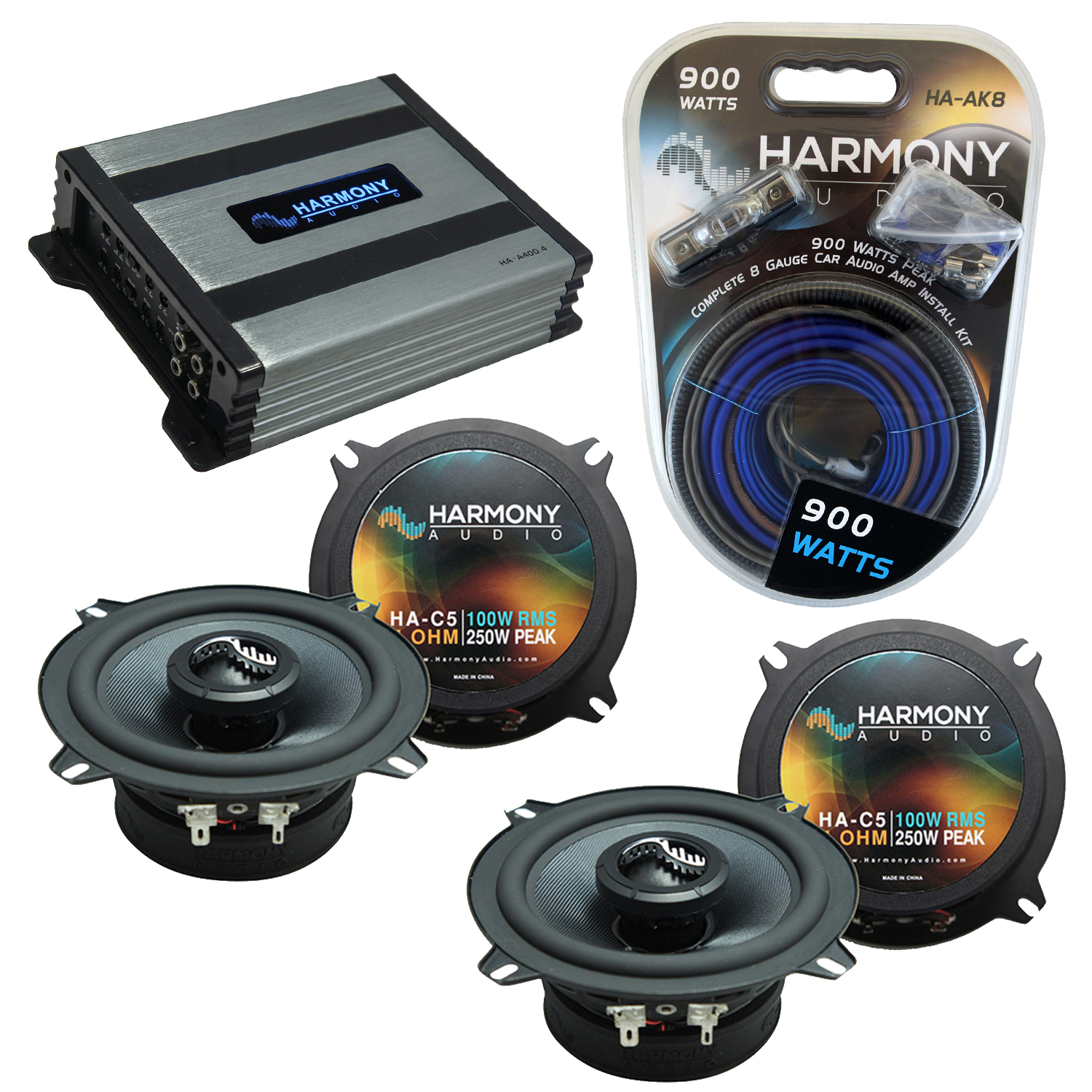 Compatible with Lexus IS 2006-2014 OEM Speakers Replacement Harmony (2) C5 & Harmony HA-A400.4