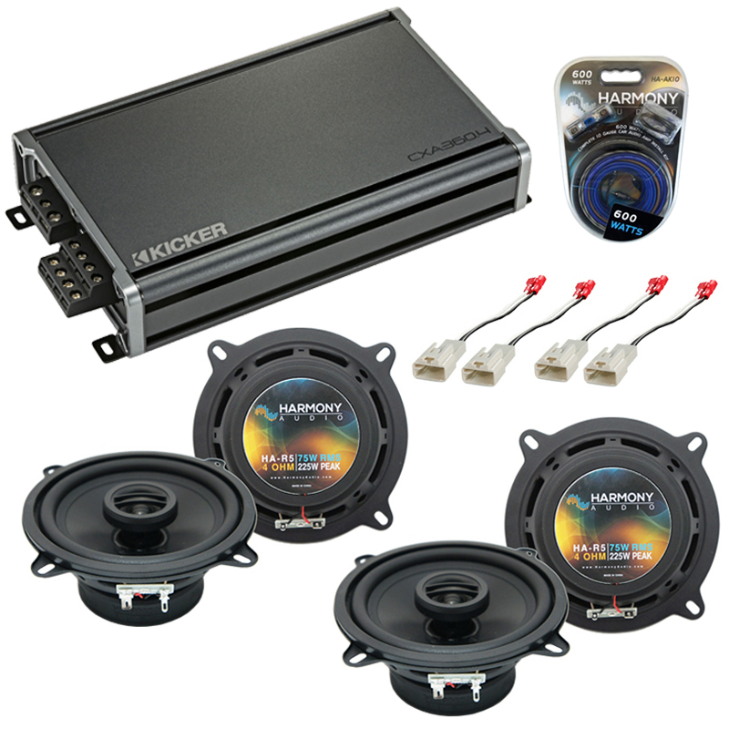 Compatible with Lexus IS 300 2001-2005 Factory Speaker Replacement Harmony (2) R5 & CXA300.4 Amp