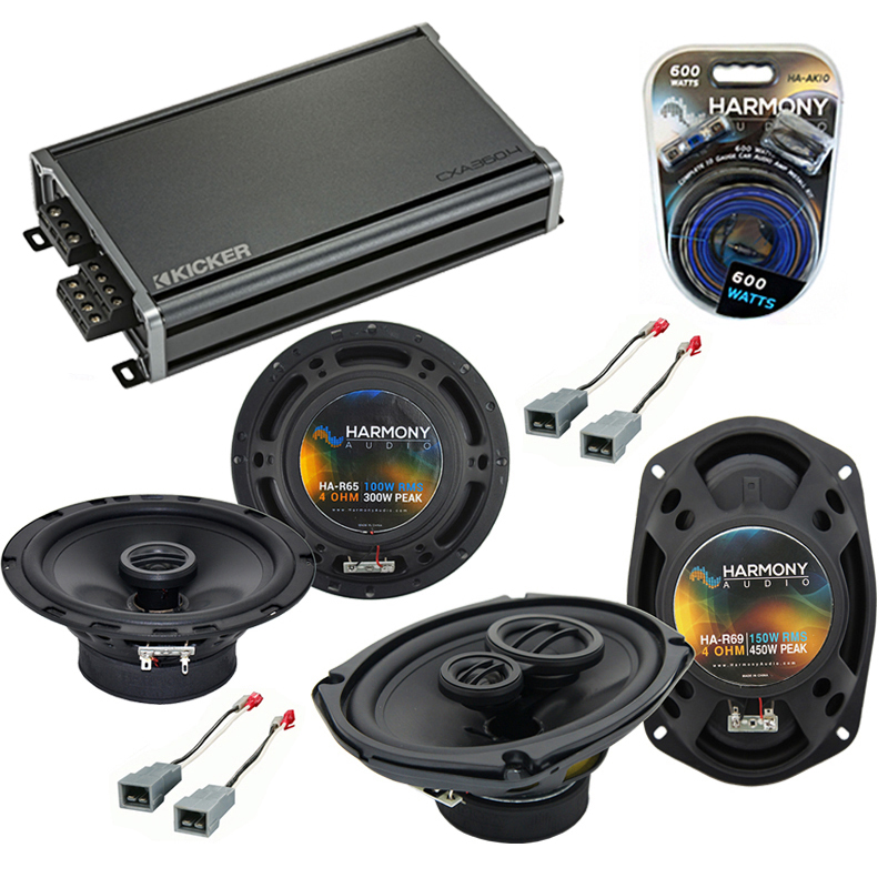 Compatible with Lincoln Mark VII 84-88 OEM Speaker Replacement Harmony R65 R69 & CXA300.4 Amp