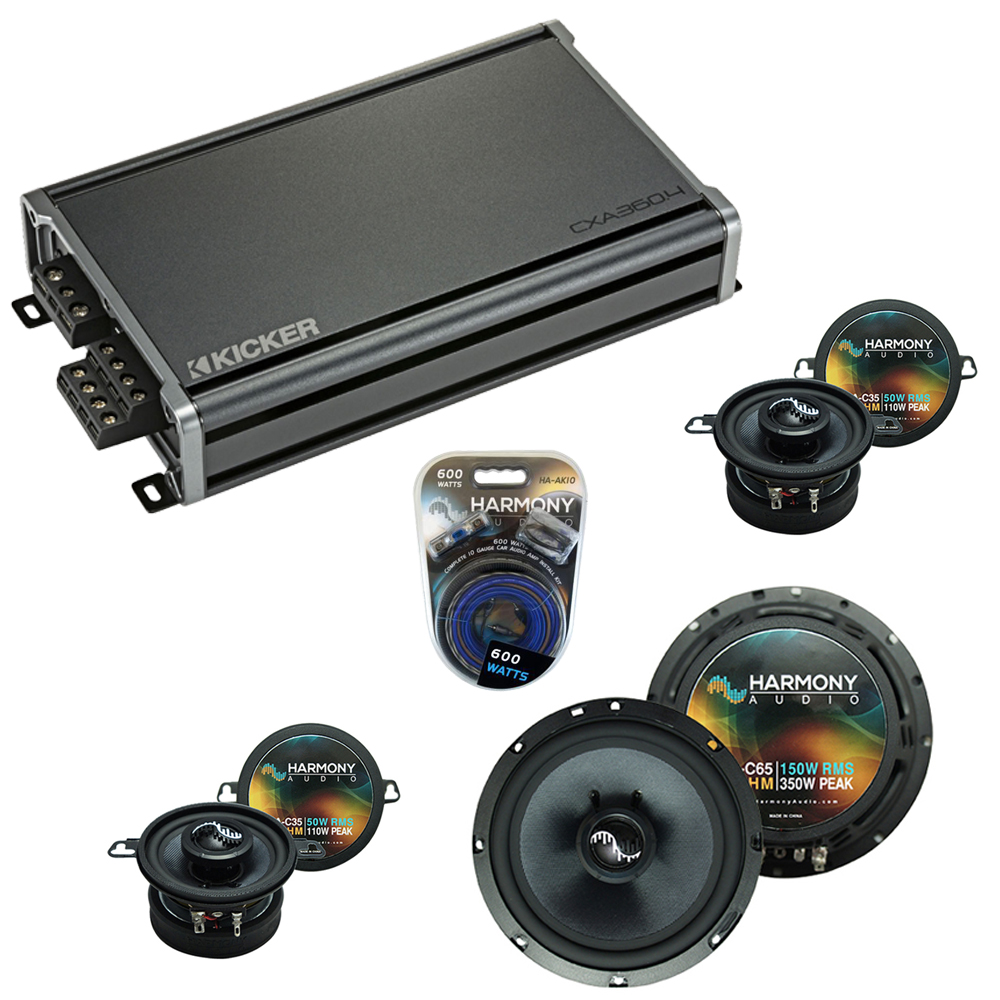 Compatible with BMW Z4 2003-2008 Factory Speakers Replacement Harmony C65 C35 & CXA3004 Amp
