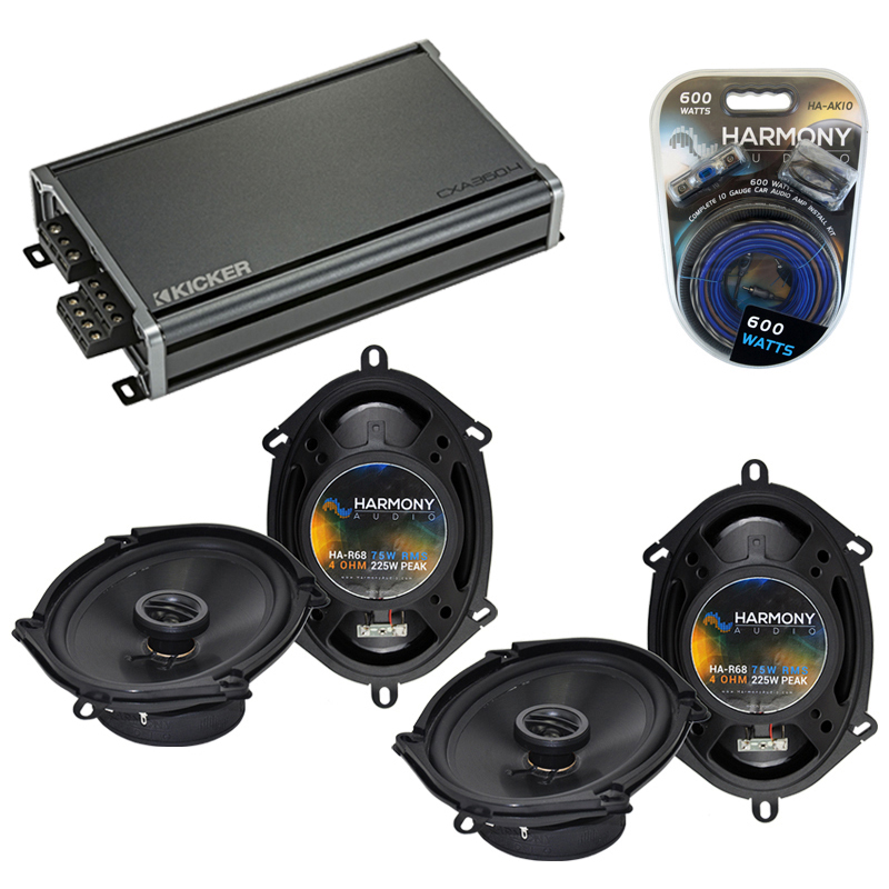 Compatible with Mazda B2300/B3000/B4000 94-94 OEM Speaker Replacement Harmony (2) R68 & CXA300.4 Amp