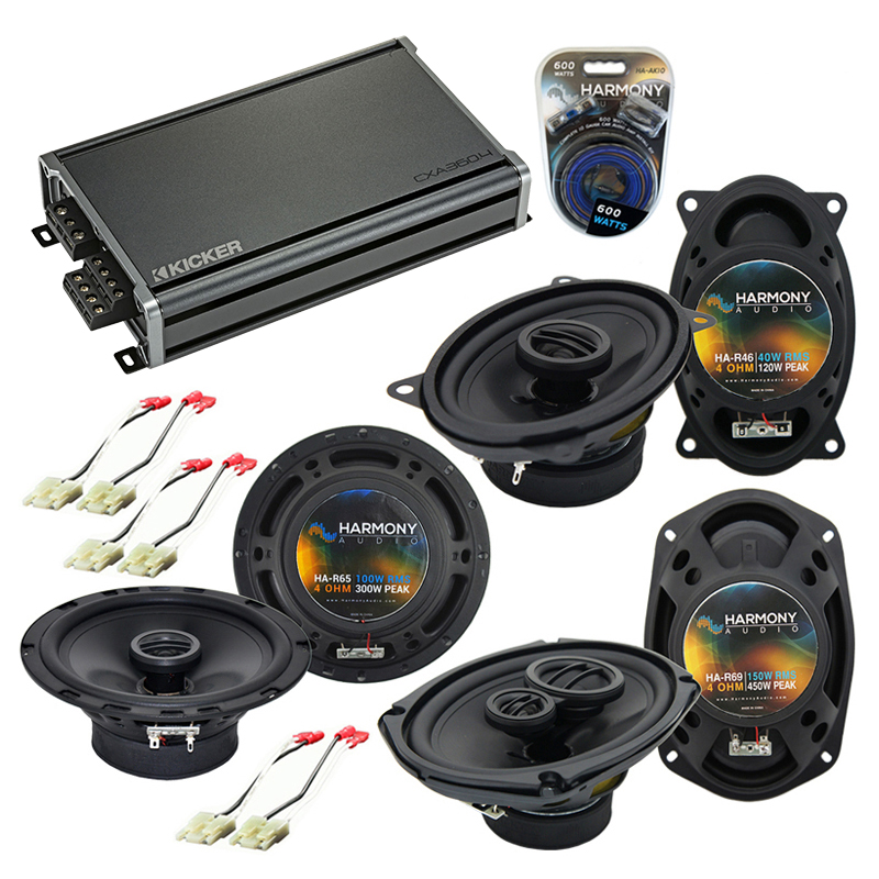 Compatible with Buick Electra 1984-1990 Factory Speaker Replacement Harmony Speakers & CXA300.4 Amp