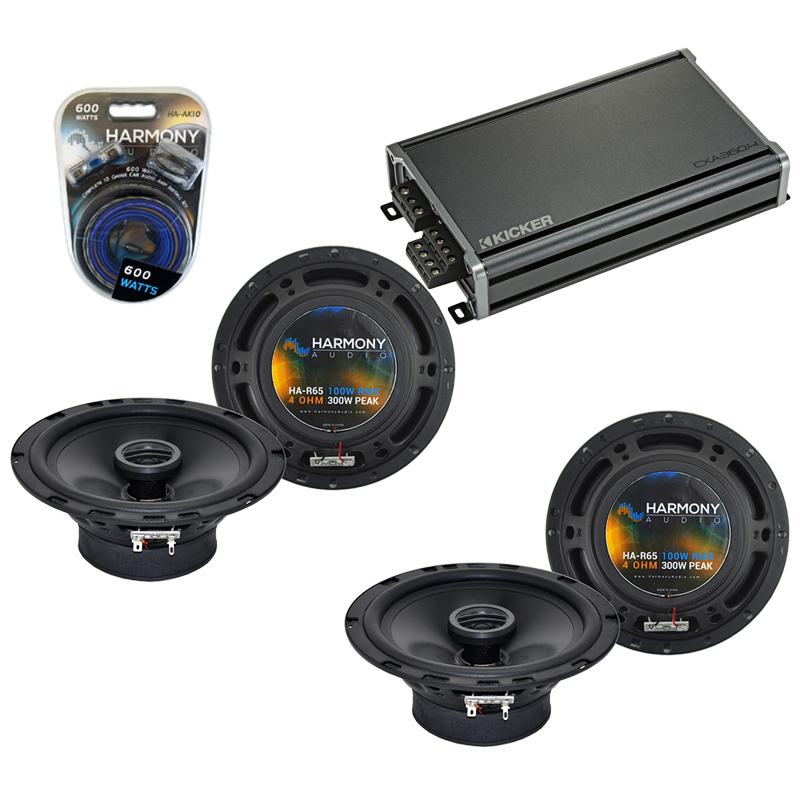 Compatible with Mercedes SLK-Class 05-11 OEM Speaker Replacement Harmony (2) R65 & CXA300.4 Amp
