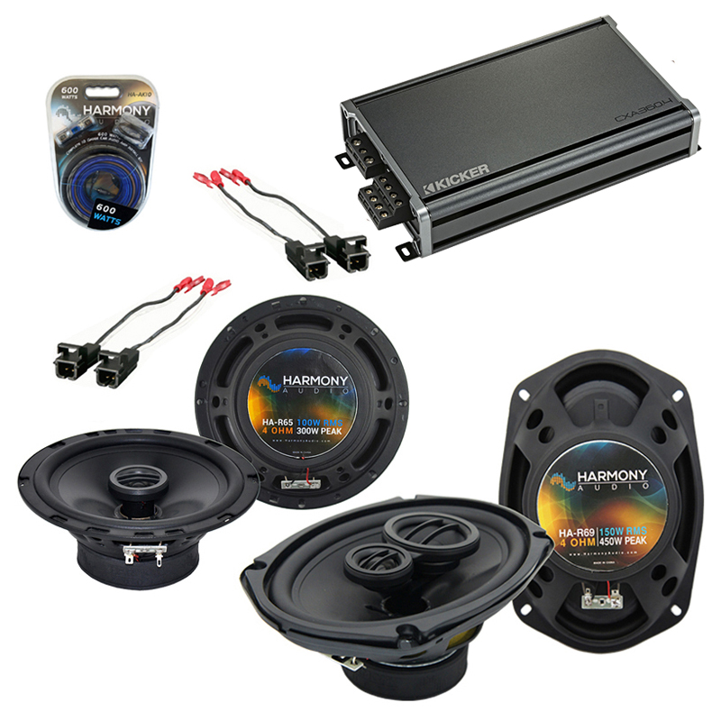 Compatible with Buick LaCrosse/Allure 2005-2009 OEM Speaker Replacement R65 R69 & CXA300.4 Amp