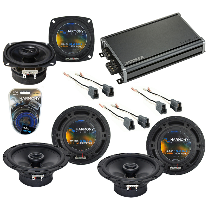Compatible with Mitsubishi Eclipse 89-94 OEM Speaker Replacement Harmony R65 R4 & CXA360.4 Amp